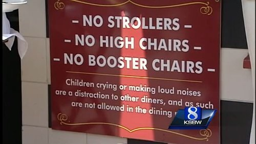 CA Restaurant Bans Noisy Kids